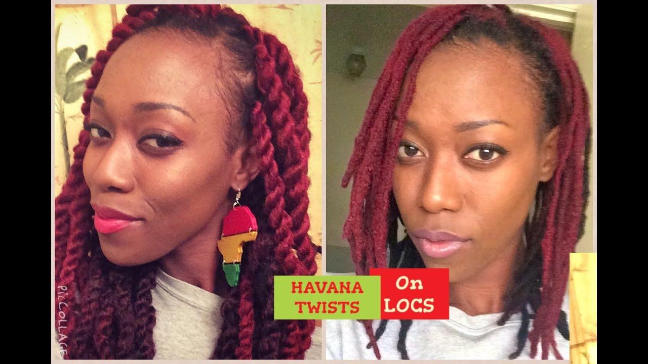 Havana Twists On Locs Full Tutorial Youtube