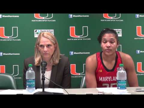 Maryland Coach Brenda Frese and Alyssa Thomas Postgame - Feb. 13, 2014
