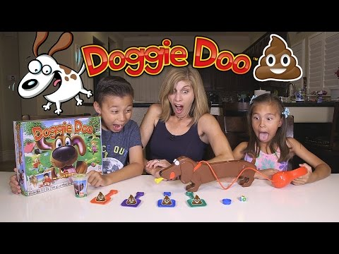 Playing with DOGGIE DOO Family Game Night Fun