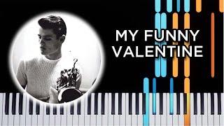 My Funny Valentine - Jazz piano solo tutorial