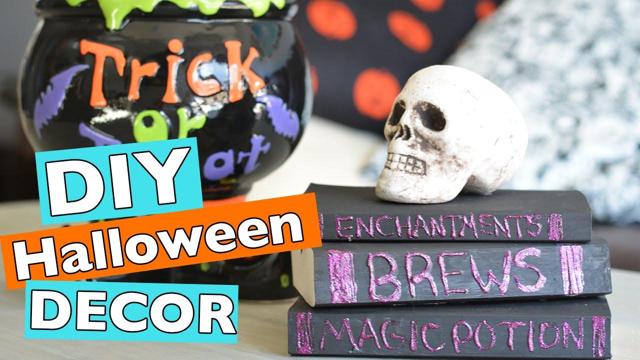 easy diy halloween room home decor ideas 2016 youtube - Halloween Room Decor