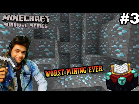 worst mining ever in Minecraft | Minecraft Survival series episode 3 | Roargaming