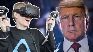 PRESIDENT TRUMP IN VIRTUAL REALITY  | Wide Awake: VR Experience  (HTC Vive Gameplay)