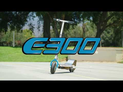 Электросамокат до 100 кг RAZOR E300 Бело-Синий. Легенда в новом цвете!