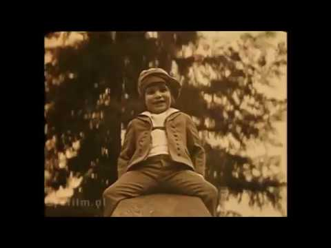 "1921 Jackie Coogan rides a teeter totter, from his film ""My Boy""."