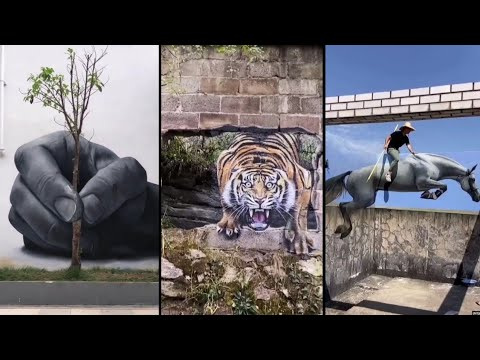 Amazing 3D Wall Painting | Artist Painting Street Walls | Entertainment For All