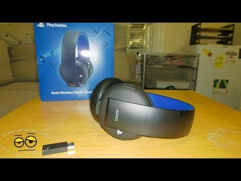 gold wireless stereo headset for ps4 ps3 review mic test youtube. Black Bedroom Furniture Sets. Home Design Ideas