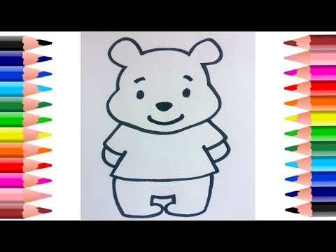 How To Draw Winnie The Pooh Bear Easy Step-By-Step Drawing Video || Coloring Pages.
