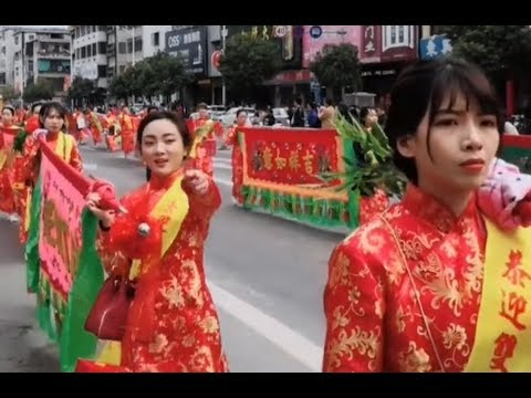 廣東潮汕潮陽民俗狂歡節,古老的民族音樂再次響起,傳統文化還在teochewfolk carnival, ancient Chinese music, shocking people