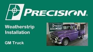 1955-1959 Chevy Truck Glass Run Weatherstrip Installation
