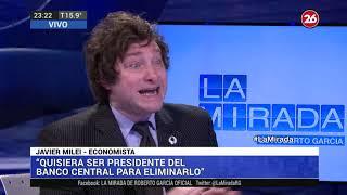 Canal 26 - La Mirada de Roberto García - Entrevista a Javier Milei