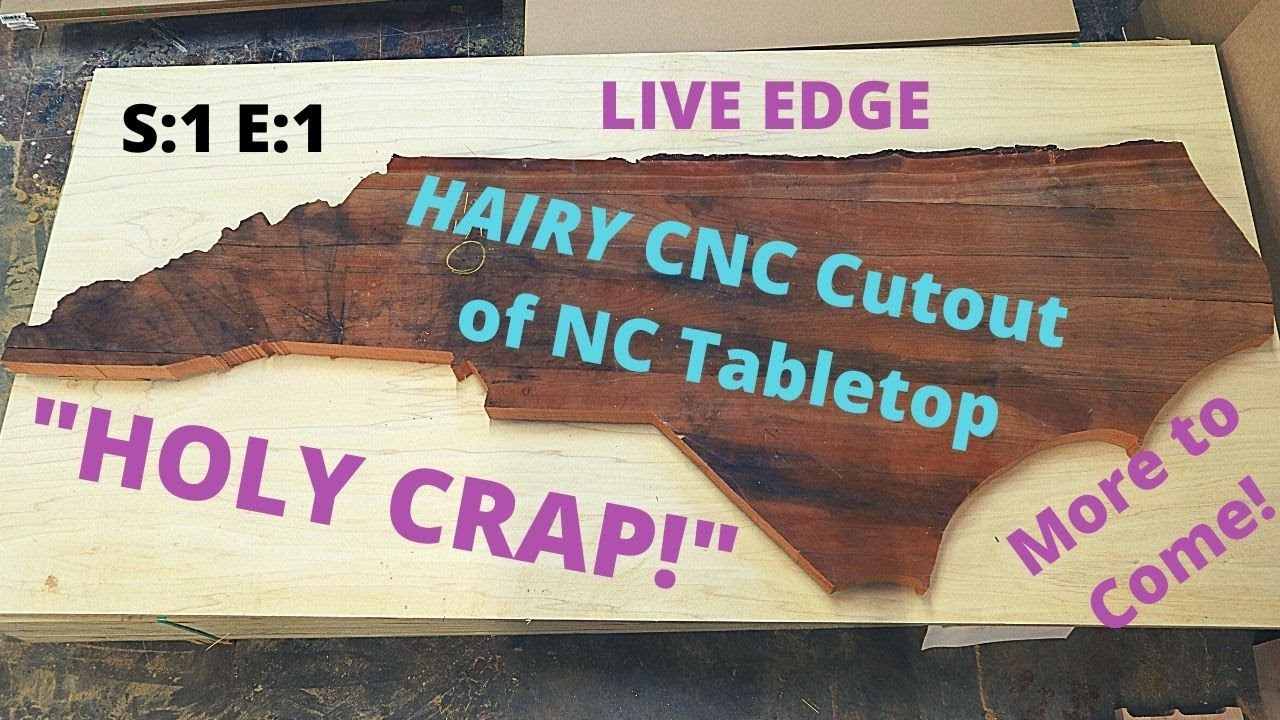 North Carolina Coffee Table Cut Out Of An Old Live Edge Cherry Wood Table Top Using Cnc Router Table Youtube