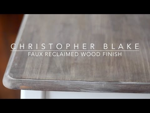 DIY Reclaimed Wood Finish | chrstphrblk