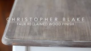 DIY Reclaimed Wood Finish chrstphrblk