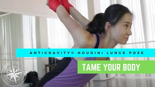 ANTIGRAVITY BENEFITS OF THE POSE - HOUDINI WRAP LUNGE - TAME LIFE