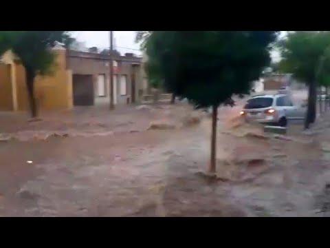 Strong hail storm and huge floods in Argentina, Santa Rose La Pampa