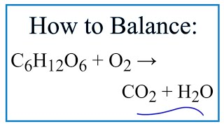 How Balance C6h12o6 O2 Co2 H20 Combustion Glucose Plus Oxygen