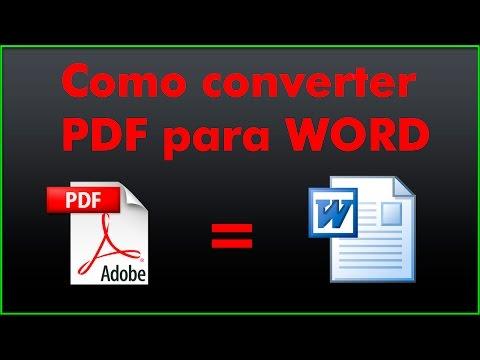 Como Converter PDF Para WORD Totalmente Grátis Sem Programas