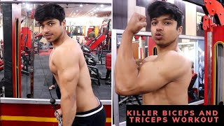 Big BICEPS and TRICEPS Workout For Mass| Beginners Workout Schedule