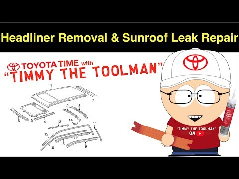 Headliner Removal & Sunroof Leak Repair