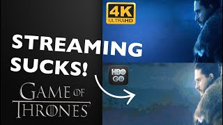 Game of thrones season 8 is a prime example how 4k ultrahd blu-ray and 1080p will always be superior to streaming! let's take look see t...