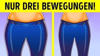 3 einfache Übungen gegen Oberschenkel-Fett