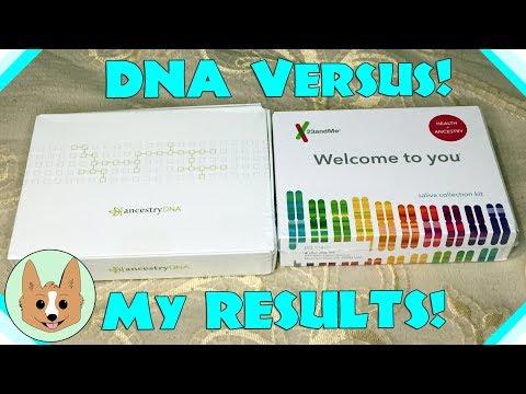 Results Comparison - AncestryDNA vs 23andMe - Genetic DNA Tests