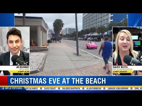 Residents, travelers excited to spend Christmas Day on Clearwater Beach