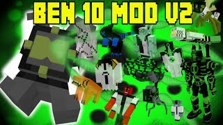 Ben 10 Vanilla Mod v2 | 11 NEW Aliens! | Minecraft