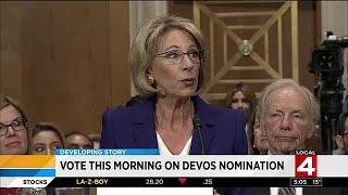 DeVos nomination vote Friday morning