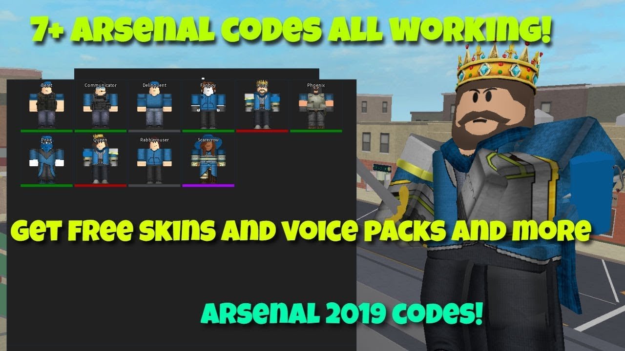 ALL ROBLOX ARSENAL CODES 2019! 7+ CODES!
