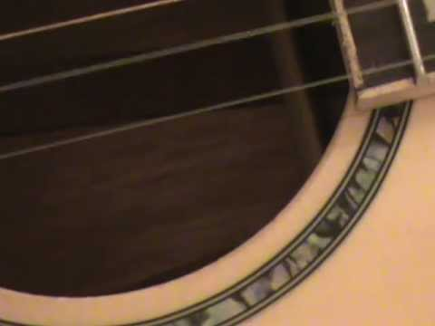 Open Tuning Little Parlor Style Acoustic Guitar Fingerpicked with a Nice Tone IMO.  Abalone Inlaid