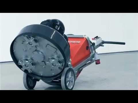 husqvarna pg820 floor grinder & polishing machine - youtube