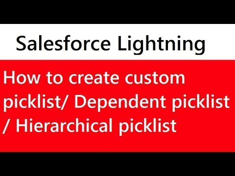 How to create a custom picklist in salesforce lightning | Dependent or  hierarchical picklist