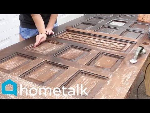 DIY Picnic Table | How To Turn A Door Into A Stunning Patio Table! | Hometalk