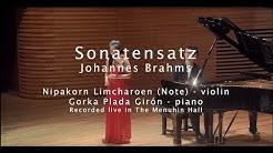 Note plays Scherzo from FAE Sonata by Johannes Brahms