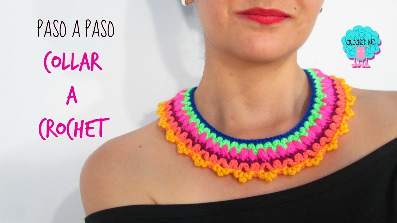 super popular 629c1 7a82a Tutorial collar a crochet / muy fácil