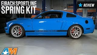 2005 2010 mustang gt eibach sportline spring kit review