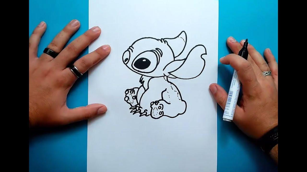 Como Dibujar A Stitch Paso A Paso Lilo Y Stitch How To Draw Stitch Lilo Stitch