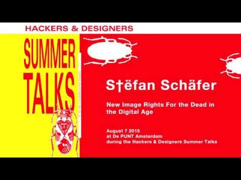 The right to die digitally, digital euthanasia, image rights and more - S†ëfan Schäfer HDSA2015