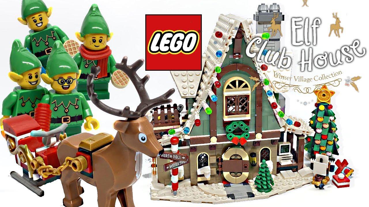 Lego Christmas Village 2020 LEGO Elf Club House Winter Village review! 2020 set 10275!   YouTube