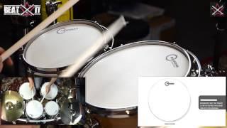 BeatIt Test: Aquarian Texture Coated Drum Heads