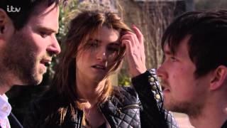 Debbie, Kirk, Robbie And Charity Argue In The Street - Emmerdale