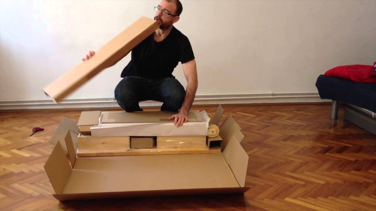 How to put an ikea sofa bed together youtube for How to put together a futon from ikea