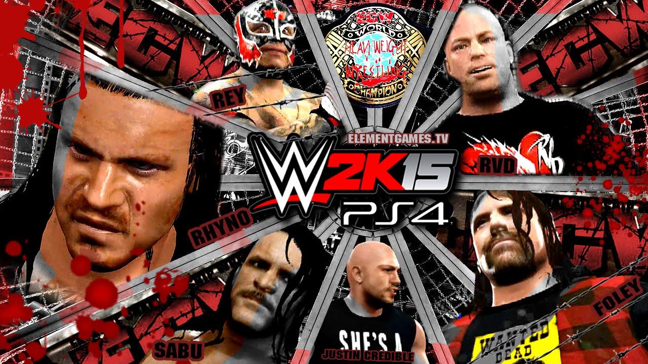 WWE 2K15 PS4 / XB1 : ECW Elimination Chamber - ECW Title ...