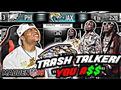 LUCKIEST CATCH IN NFL HISTORY! 😳 MADDEN 18 TRASH TALK GAME Vs. Migos Wanna Be! | Madden 18 Gameplay