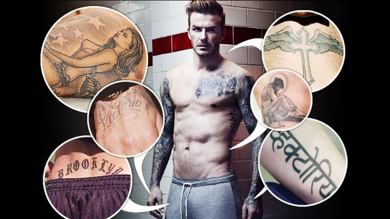 DAVID BECKHAM TATTOOS AND ITS MEANINGS - YouTube