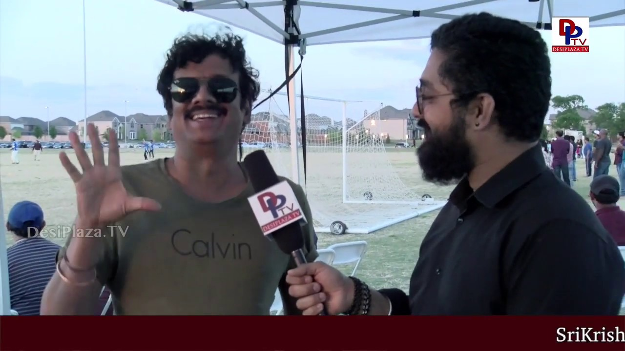 Actor Uttej hilarious fun with host at Film Stars Cricket in USA conducted by MAA | DesiplazaTV
