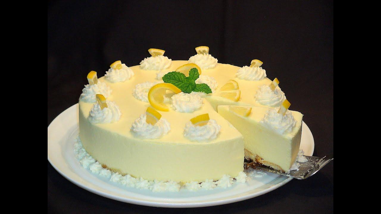 Receta Tarta semifrío de limón súper fácil y SIN HORNO. Recetas paso a paso. Loli Domínguez