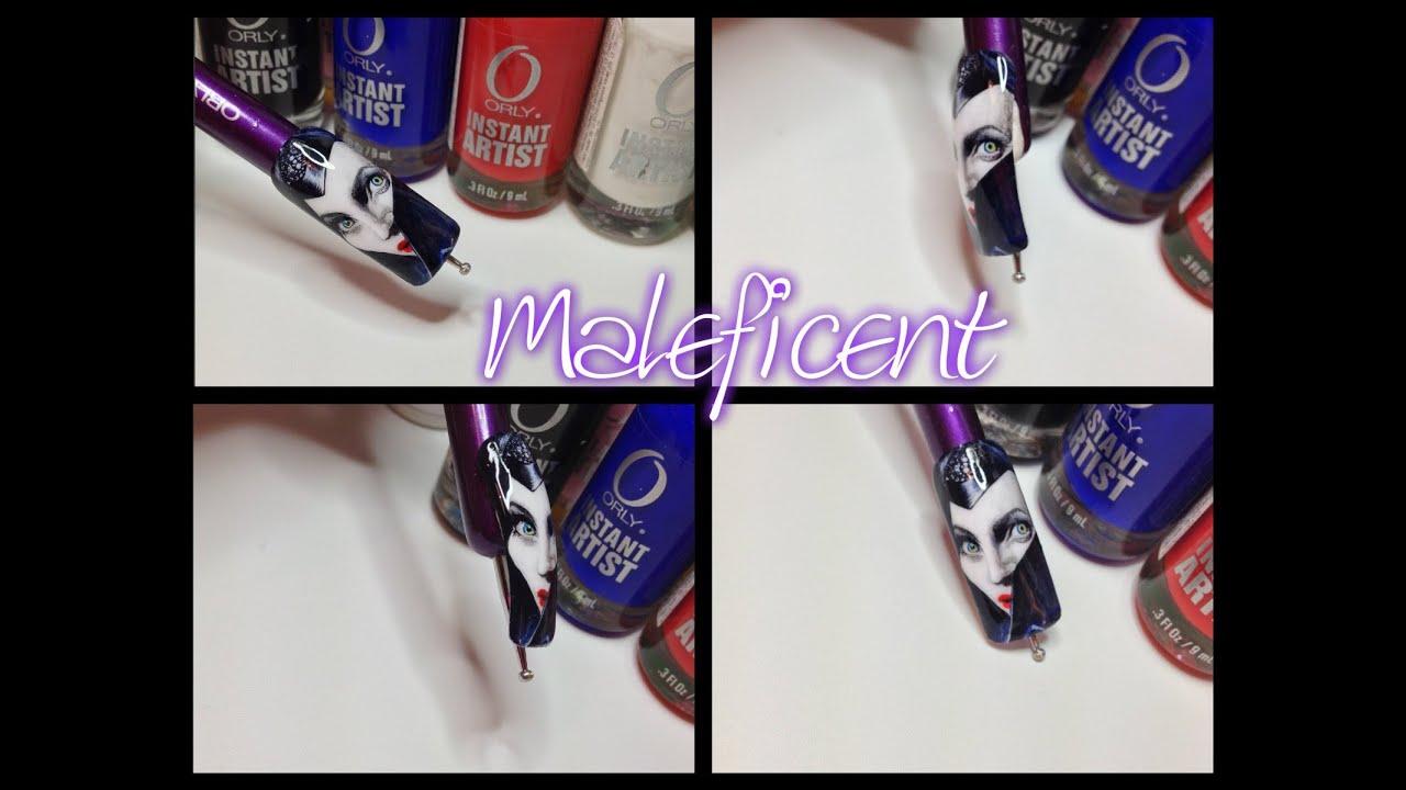 Maleficent Nail Art - Luana Gariselli - YouTube